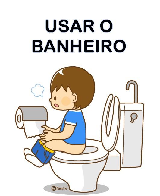 Cartão Rotina banheiro - 41 Cartazes de Rotina para Educação Infantil