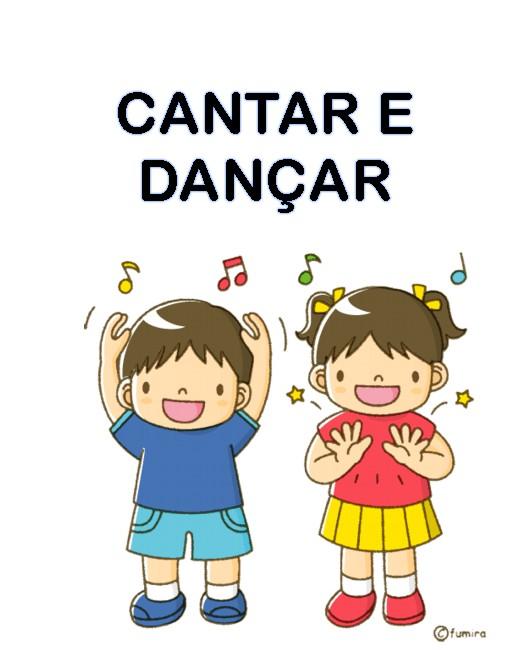 Cartão Rotina cantar e dançar - 41 Cartazes de Rotina para Educação Infantil