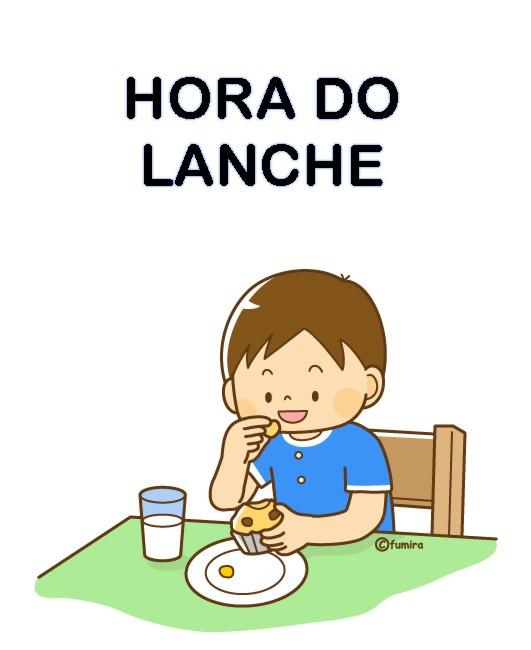 Cartão Rotina hora do lanche - 41 Cartazes de Rotina para Educação Infantil